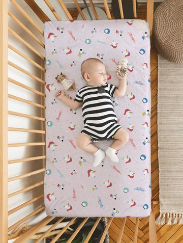 Mothercare | Rabitat 100% Organic Cotton Fitted Sheet  (Totally Adorable)