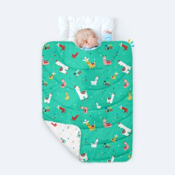 Mothercare | Rabitat 100% Organic Cotton All Weather Quilt - No Prob Llama
