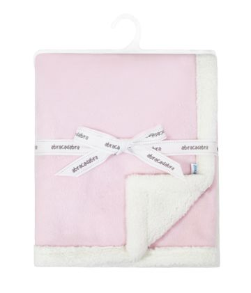 Mothercare   Abracadabra Chamois Blanket - Pink