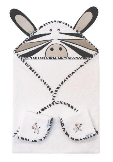 Mothercare | Abracadabra Hooded Towel Set - Zebra