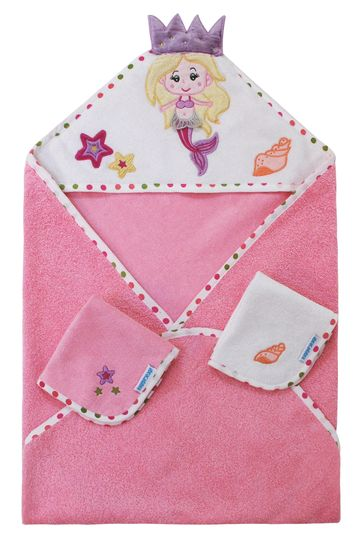 Mothercare | Abracadabra Hooded Towel Set - Mermaid