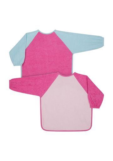 Mothercare | Mothercare Toddler Towelling  Bibs & Burp Cloths Pink