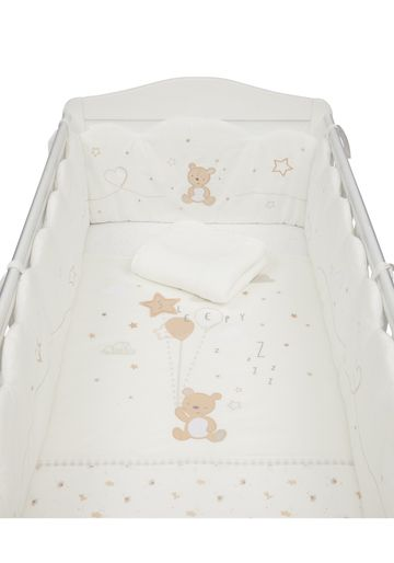 Mothercare | Mothercare Little and Loved  4 Piece Bed In Bag / Bedding Set Cream
