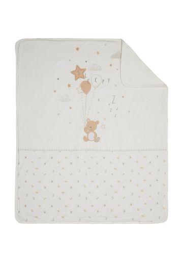 Mothercare   Mothercare Little & Loved Coverlet Blanket Cream