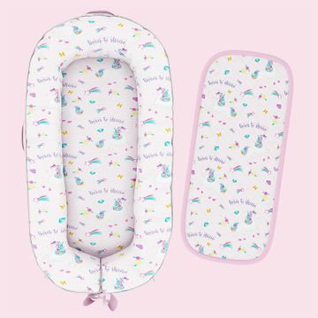 Mothercare | Fancy Fluff Organic Baby Cocoon - Unicorn