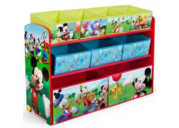 Mothercare | Delta Children Mickey Mouse Deluxe Bin Organizer Multi