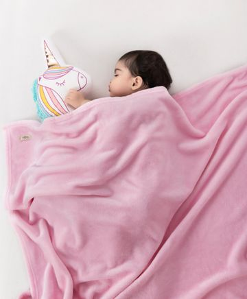 Mothercare | Mi Arcus Premium Flurry Knitted Blanket Pink
