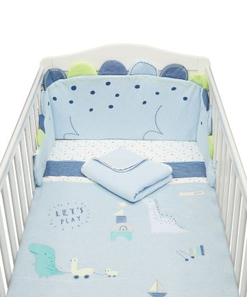 Mothercare | Mothercare Sleepysaurus 4Pc Bed In Bag  Baby Bedding Sets Blue