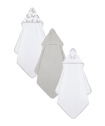 Mothercare | Mothercare 3 pack Cuddle and Dry Baby Towels Grey