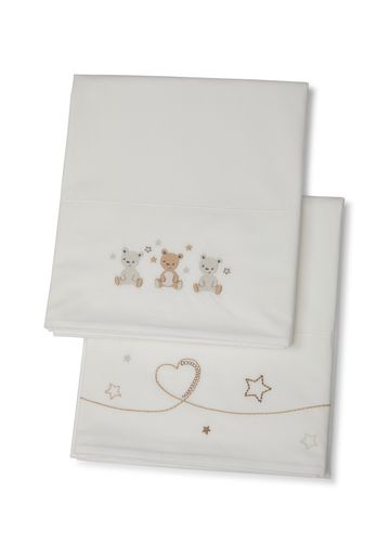 Mothercare | Mothercare Little&Loved 2 pack Flat Sheets White