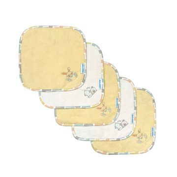 Mothercare | Abracadabra Terry Face Washers (Set Of 5) - Sleepy Friends