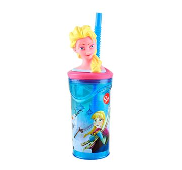 Disney | Disney Stor 3D Figurine Tumbler Frozen Iridescent Aqua 360 Ml for Age 3Y+ (Blue)