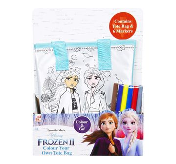 Disney   Disney Frozen2 Colour Your Own Totebag DIY Art & Craft Kits for Girls age 3Y+
