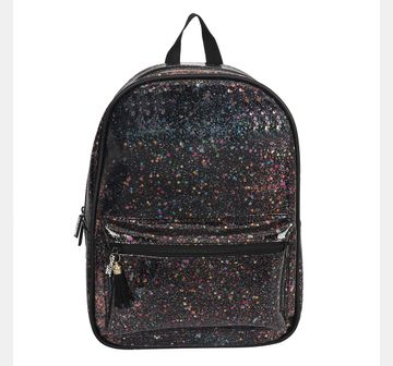 Hamster London | Hamster London Glitter Black Backpack, 6Y+
