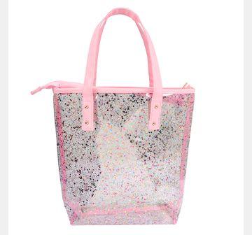 Hamster London   Hamster London Glitter Tote Bag Pink, 6Y+