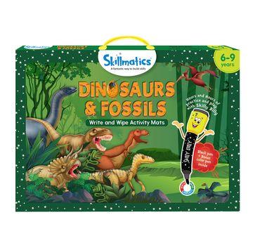Skillmatics | Skillmatics Dinosaurs & Fossils Write & Wipe Activity Mats, Multicolor, 6Y+