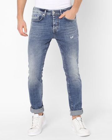 GAS | Men's Anders Blue Solid Jeans