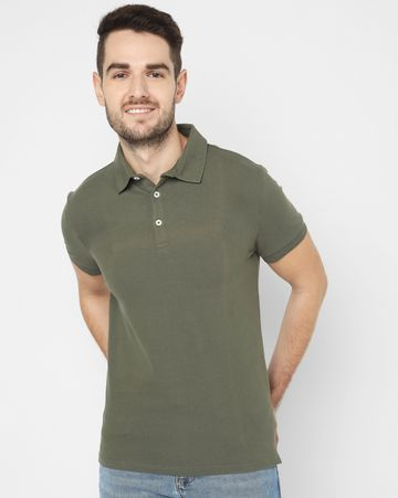 GAS | Men's Ralph/S Vint. Green Solid Polo