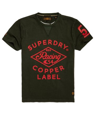 Superdry | Khaki Green Printed T-Shirt