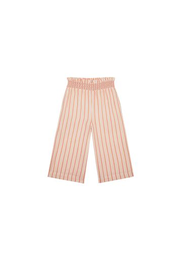 Mothercare   Girls Smocked Waist Trousers Striped - Pink