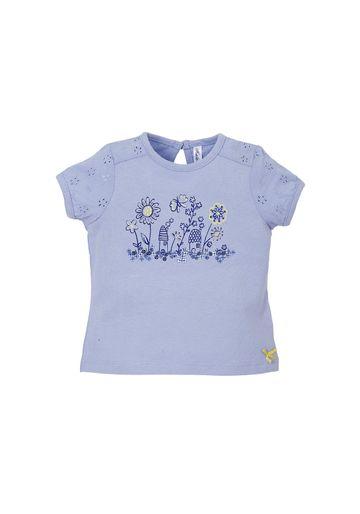 Mothercare | Blue Girls Sparkling Flowers T-Shirt