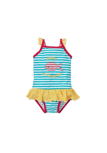 Mothercare | Girls Sleeveless Swimsuit Striped - Blue