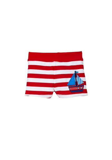 Mothercare | Boys Swimming Trunks Boat Print - Red
