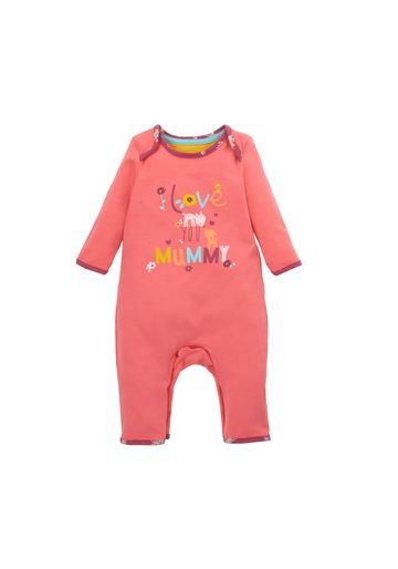 Mothercare | Girls Full Sleeves Romper Text Print - Pink