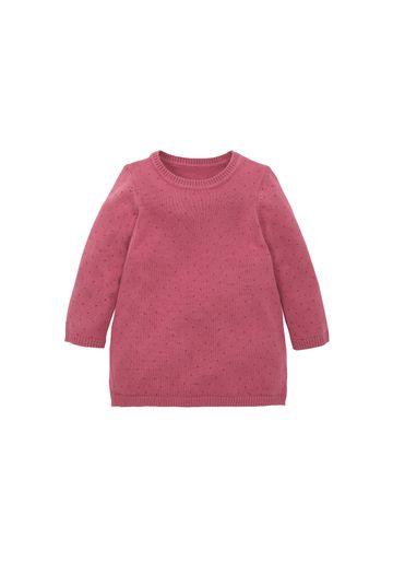 Mothercare   Girls Knitted Spot Dress - Pink