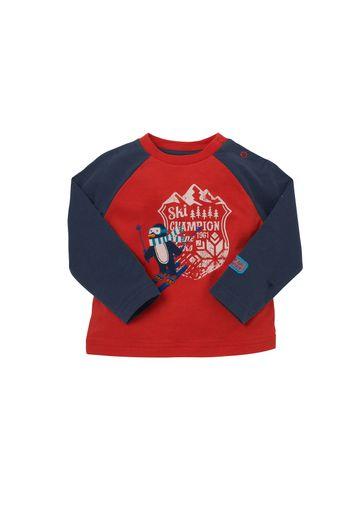 Mothercare | Boys Full Sleeves T-Shirt Penguin Print - Red