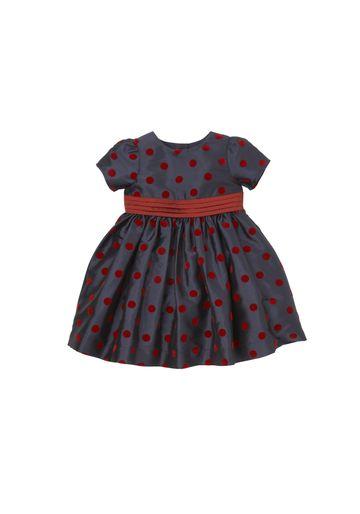 Mothercare | Girls Half Sleeves Party Dress Polka Dot Print - Navy