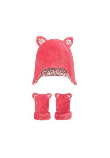Mothercare | Girls Hat & Mitts Set 3D Details - Pink
