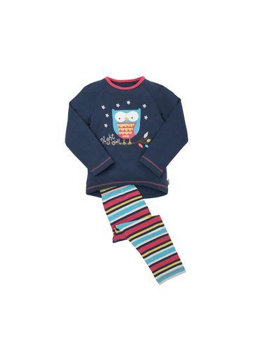 Mothercare | Girls  Night Owl Pyjamas - Navy
