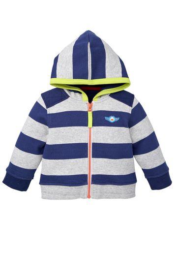 Mothercare | Boys Full Sleeves Sweatshirt With Hood Striped - Navy