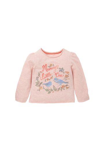 Mothercare | Girls Full Sleeves T-Shirt Bird Print - Pink