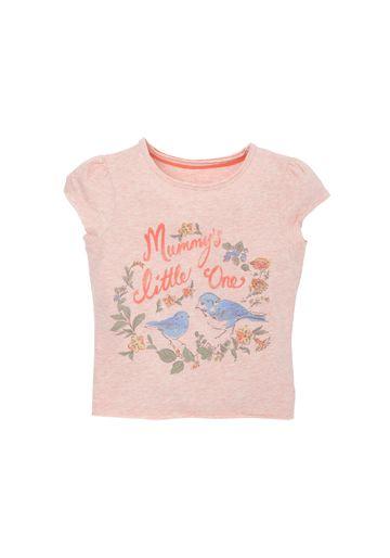 Mothercare   Girls Half Sleeves T-Shirt Brid Print - Pink