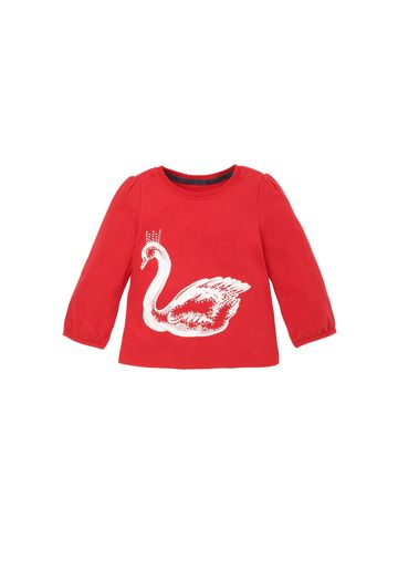 Mothercare | Girls  Swan Long Sleeved T-Shirt - Red