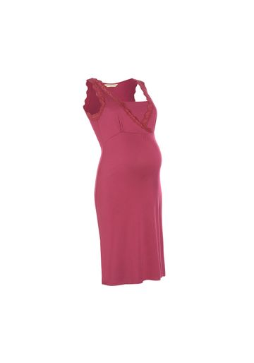 Mothercare   Women Sleeveless Maternity Nightdress Lace Detail - Red