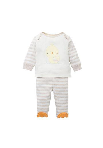 Mothercare | Unisex Full Sleeves Pyjama Set Duck Patchwork - Beige