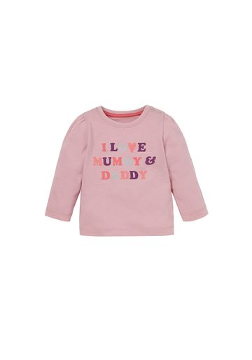 Mothercare | Girls I Love Mummy And Daddy T-Shirt  - Pink