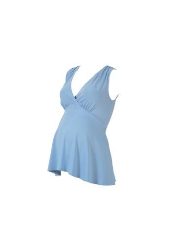 Mothercare | Women Sleeveless Maternity Top Flared Hem - Blue