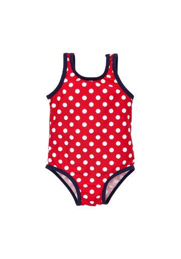 Mothercare | Girls Sleeveless Swimsuit Polka Dot Print - Red