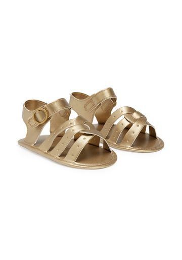Mothercare | Girls Cross-Over Sandals - Gold