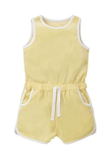Mothercare | Girls Yellow Velour Playsuit - Yellow