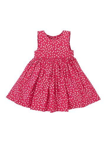 Mothercare | Girls Sleeveless Dress Polka Dot Print - Red