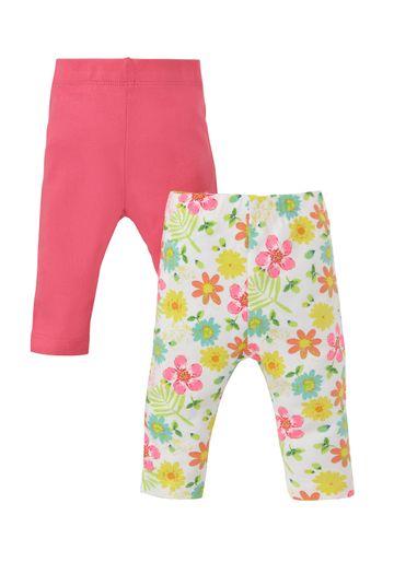 Mothercare | Girls  Leggings Floral Print - Pack Of 2 - Multicolor