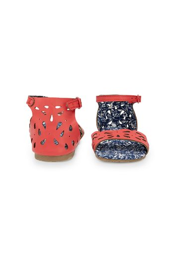 Mothercare | Girls Cut Out Sandals - Coral