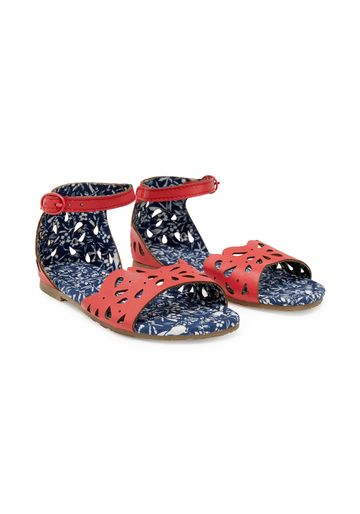 Mothercare | Girls Cut Out Sandals - Red