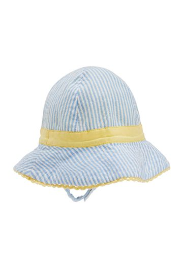 Mothercare   Girls Striped Hat With Chin Straps - Blue
