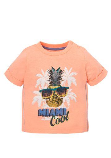 Mothercare | Boys Half Sleeves T-Shirt Pineapple Print - Orange